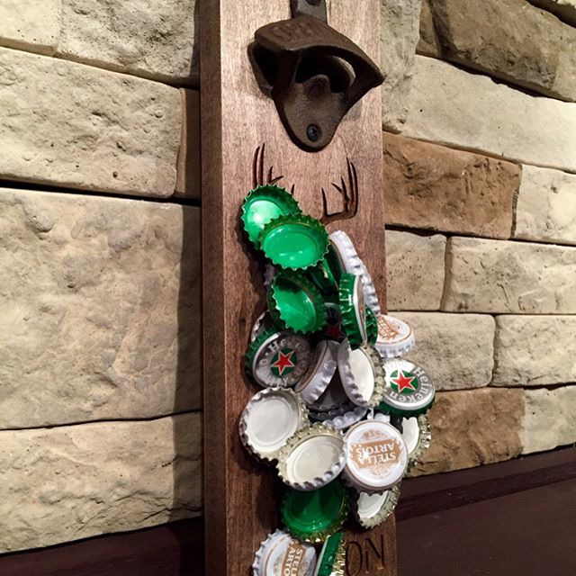"""BEER DEER SEASON"" Magnetic bottle opener. Swipe left on the picture to see more!!!! Can hold upto 40+ bottle caps. Screw it to a wall or attach it to your fridge. Available to purchase @ our Etsy store. Click on the link in our profile above 👆🏻 #beer #beergift #magneticbottleopener #magnet #brewery #openbeer #bottleopener #bottle #beergift #beerbelly #beer🍻 #beerporn #bottlecap #bottlecaps #beerlover #beerstagram #MN #MINNESOTA #mnstate #deer #hunter #deerhunter #camo"