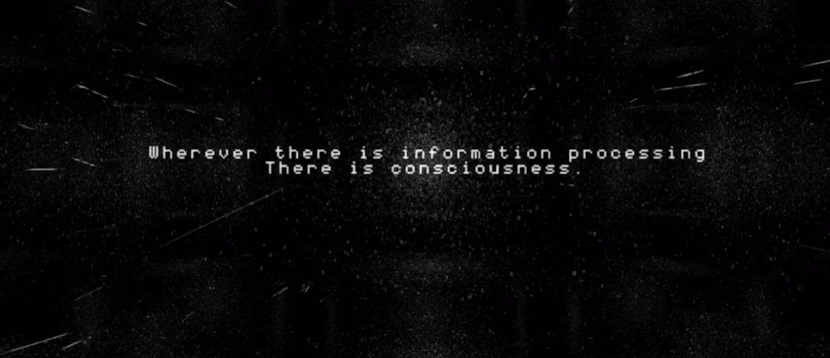 Wherever there is information processing there is consciousness - Mutek Audio Visual Show