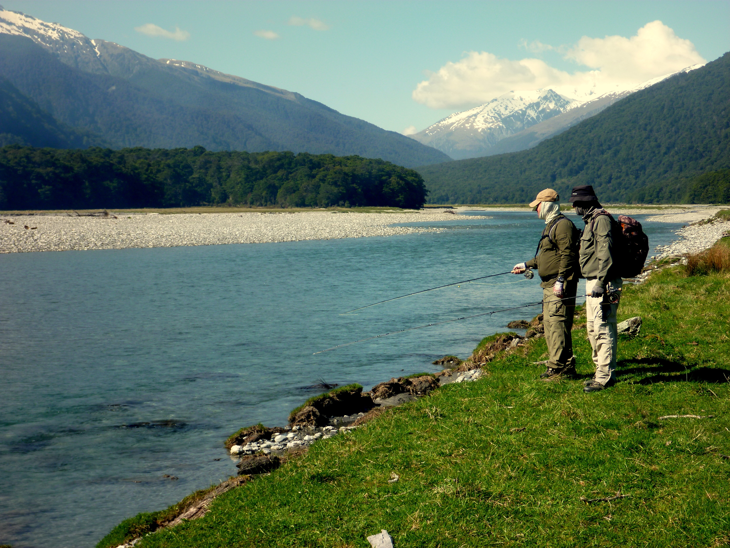 Turbull river in the Haast region of South Westland.
