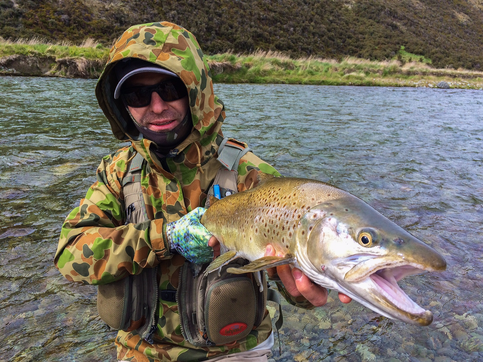 Fly fishing the Southland region of New Zealand.