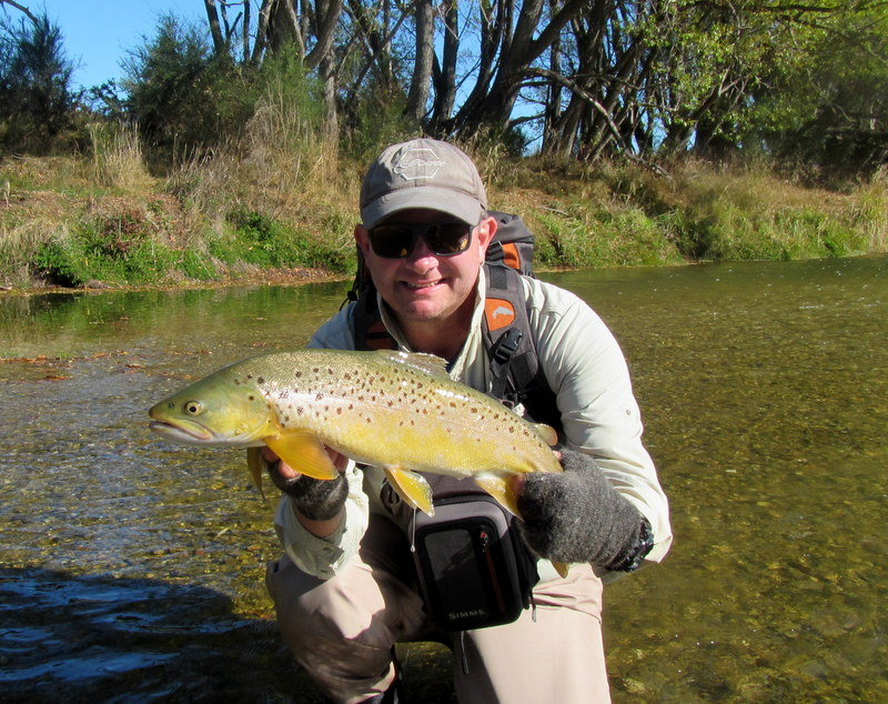 Fly fishing the Southland region for trophy brown trout.