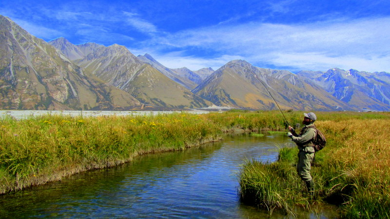 Fly fishing the South Island of New Zealand for trophy Brown and Rainbow trout