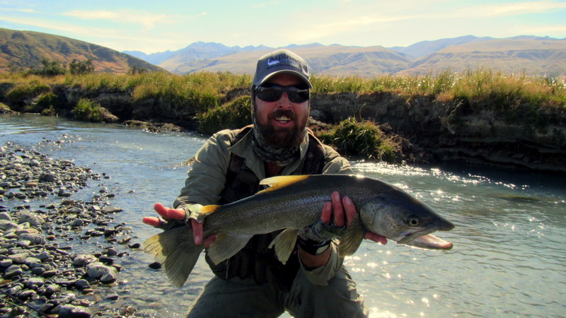 New Zealand trout fishing with Paul Macandrew.