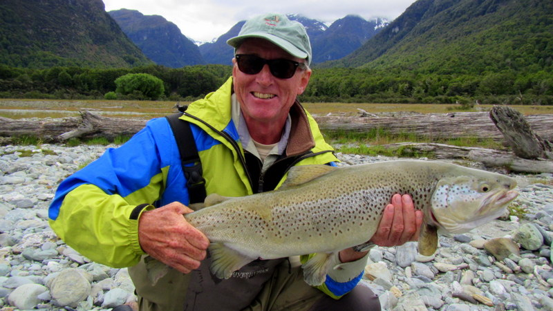 New Zealand trout fishing in the lower  South Island