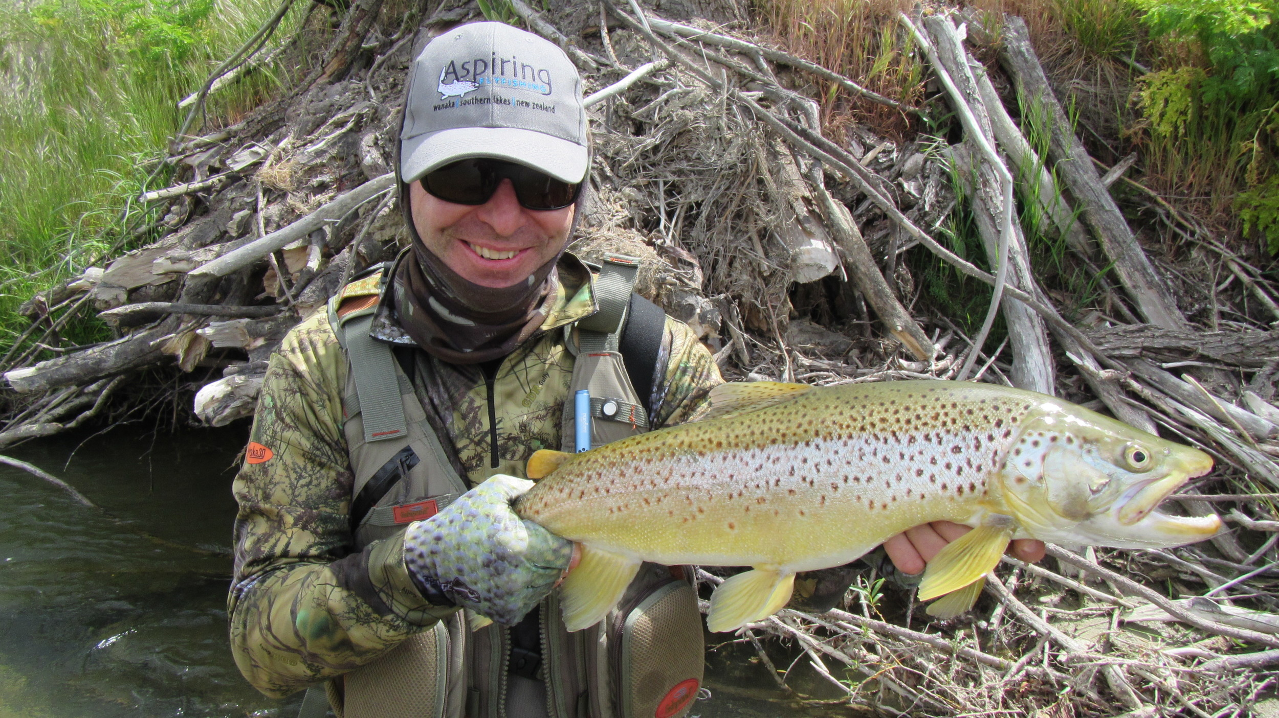 Trophy brown trout from a  Southland stream.