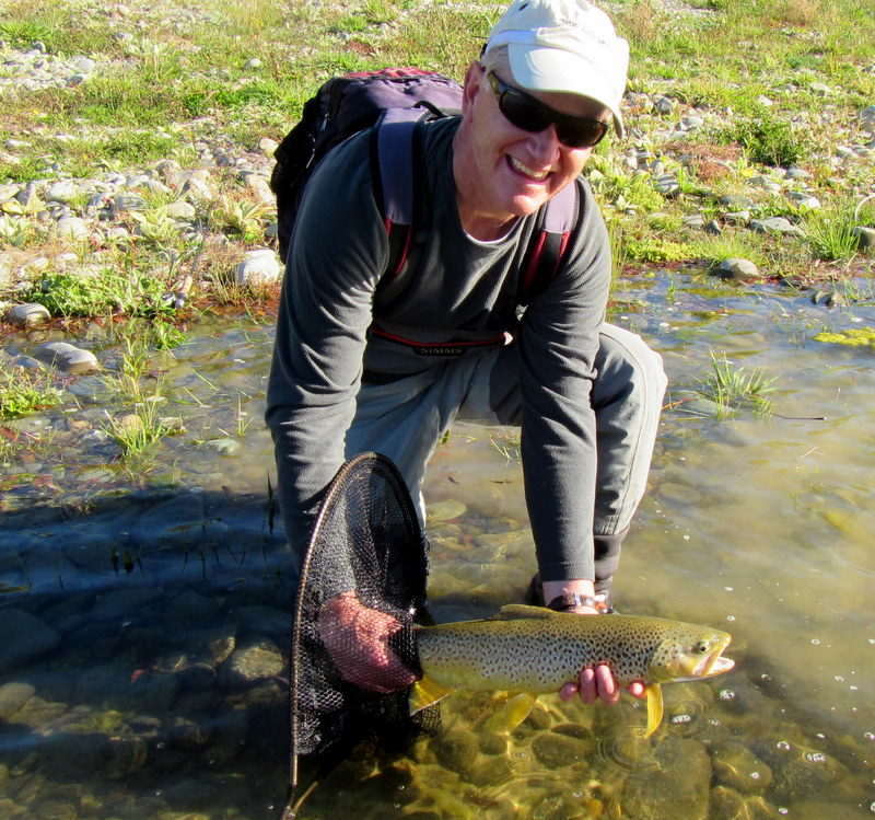 Fly fishing Queenstown with Paul Macandrew.