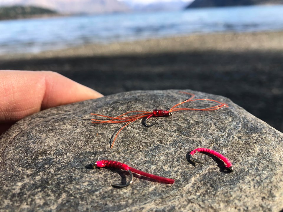 A few favourite blood worm imitations……keeping things slim are the key with this pattern.