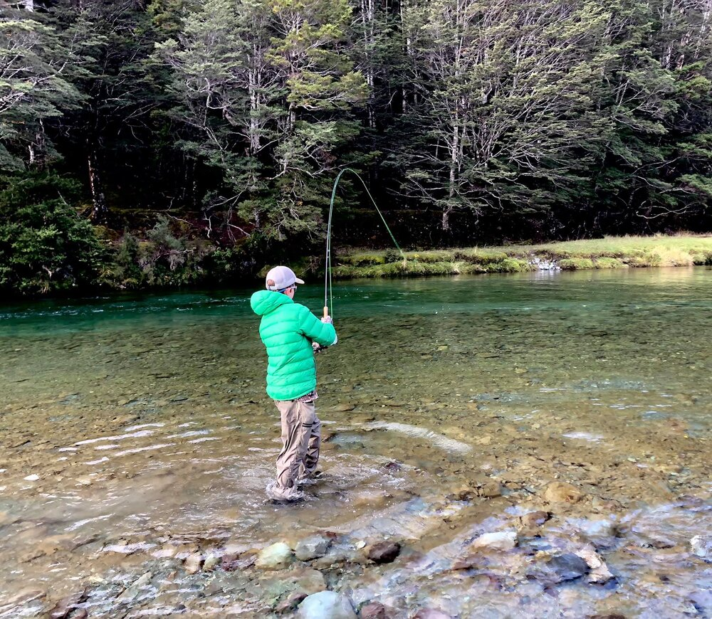 A deep pool that held a very big rainbow trout !