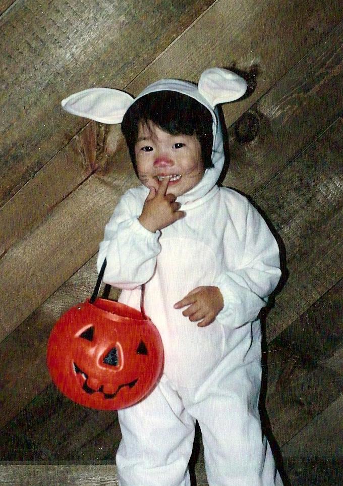 The Easter Bunny meets Halloween