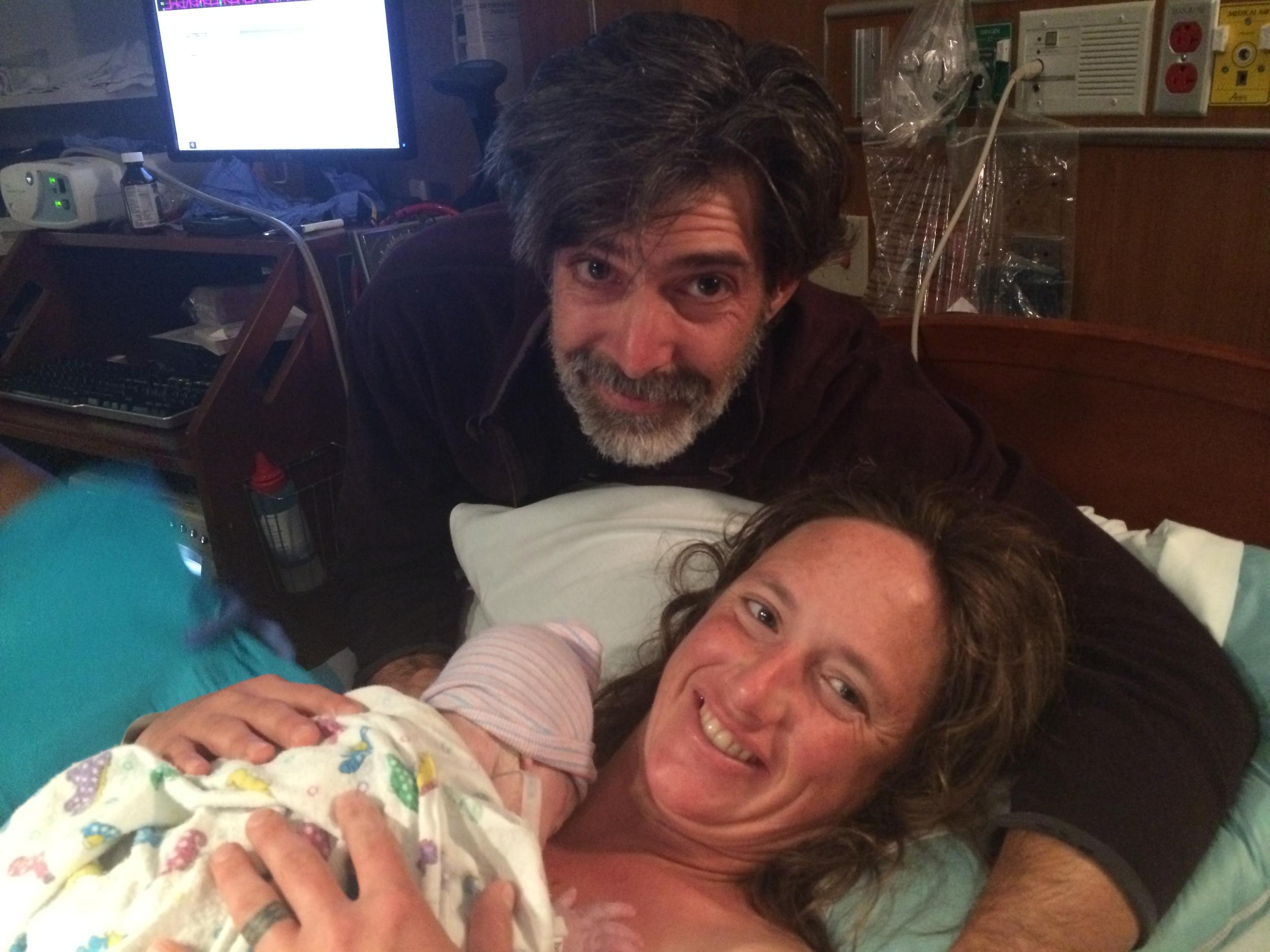Hilary and Dave with Katherine Prairie Sky