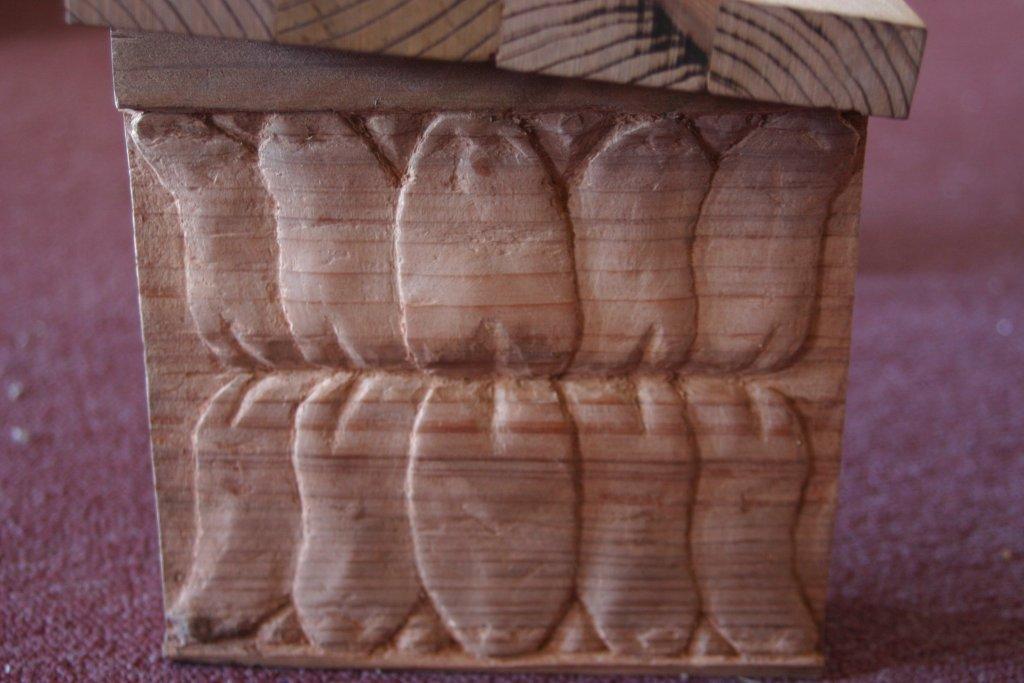 Meditation Bench (2006) - Bas Relief Lotus - Redwood