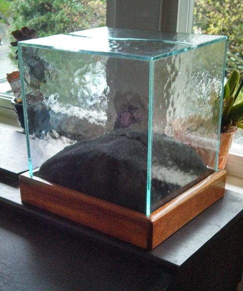 Donation Box (2012) - Art Glass & Mahogany