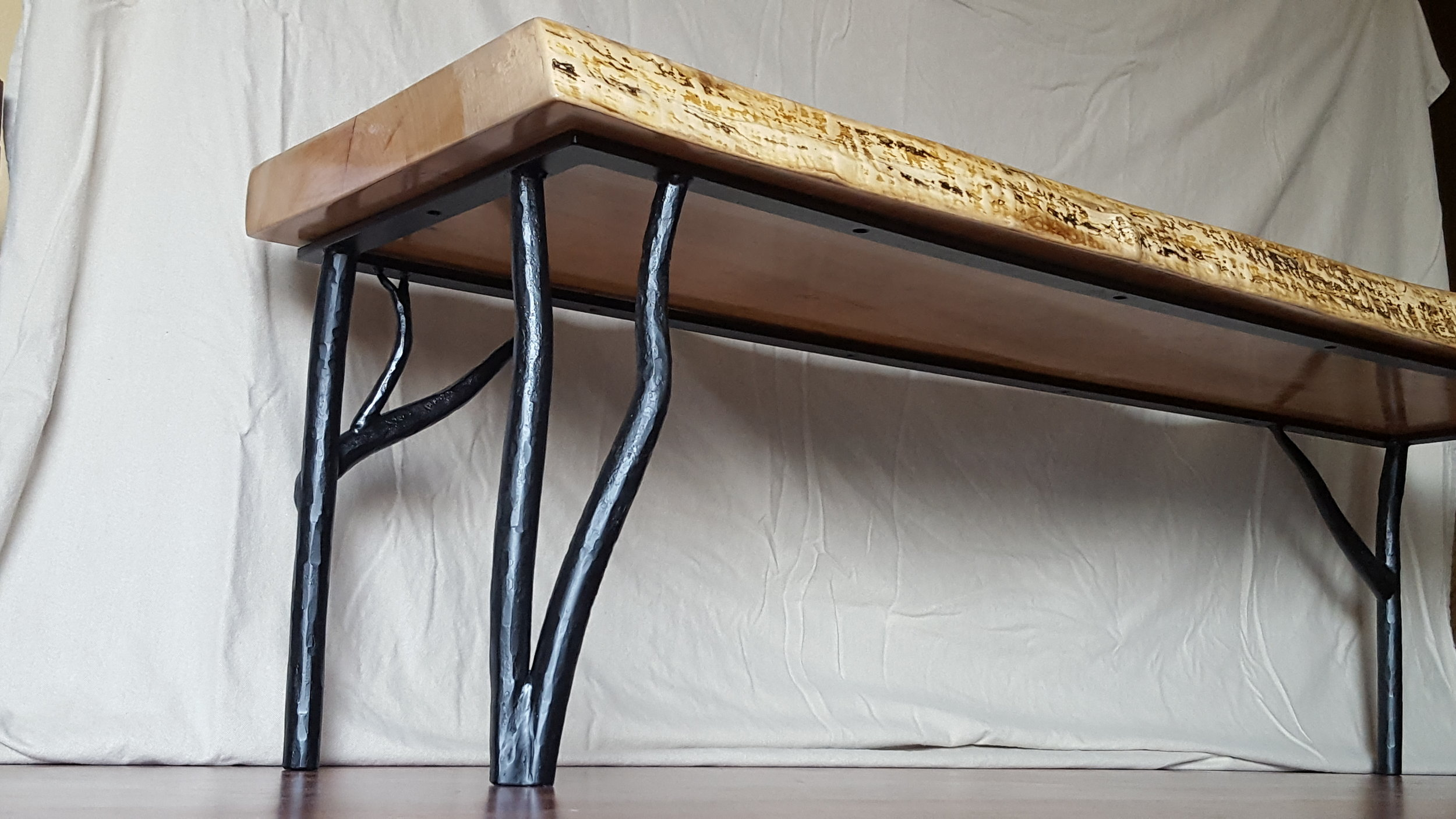 Bench (2018) - Maple and Wrought Iron