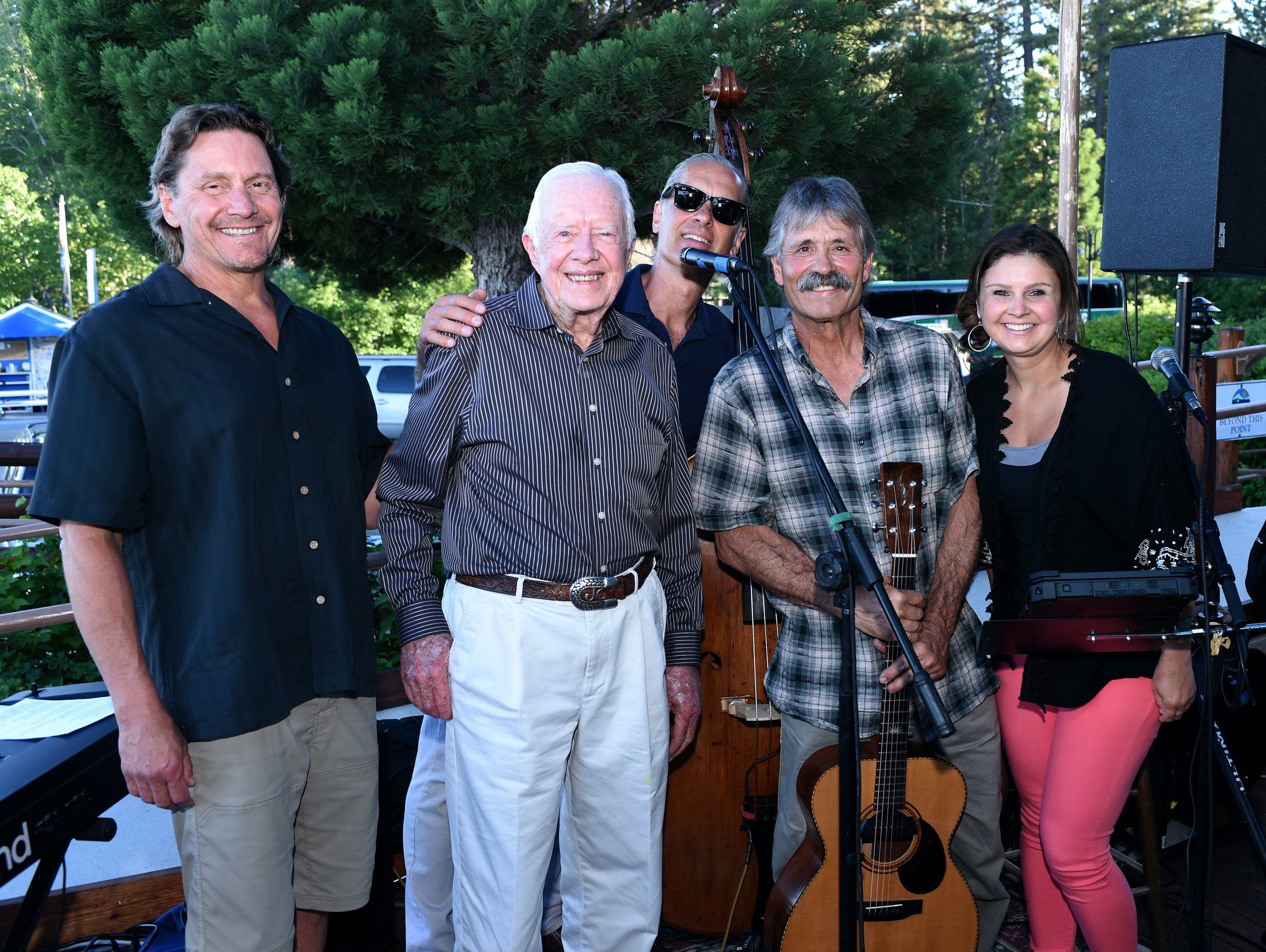 - It was an honor to play for Jimmy Carter at a Habitat for Humanity event at Lake Tahoe