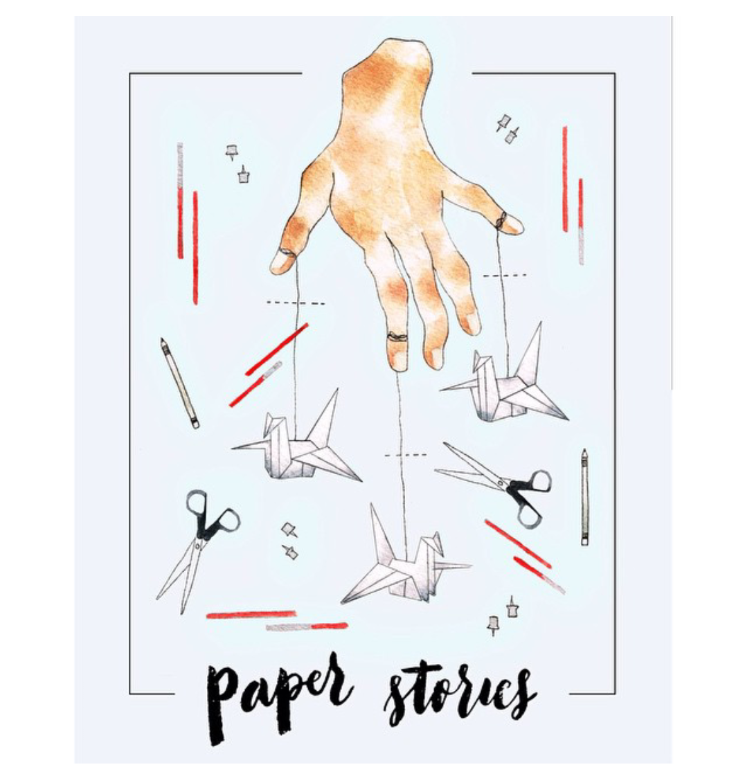 Paper Stories logo by Anina Rubio | Poster by Jamie Catt