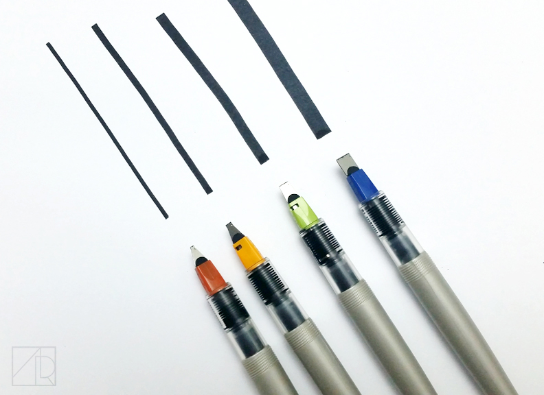 Left to Right: 1.5mm, 2.4mm, 3.8mm, 6.0mm