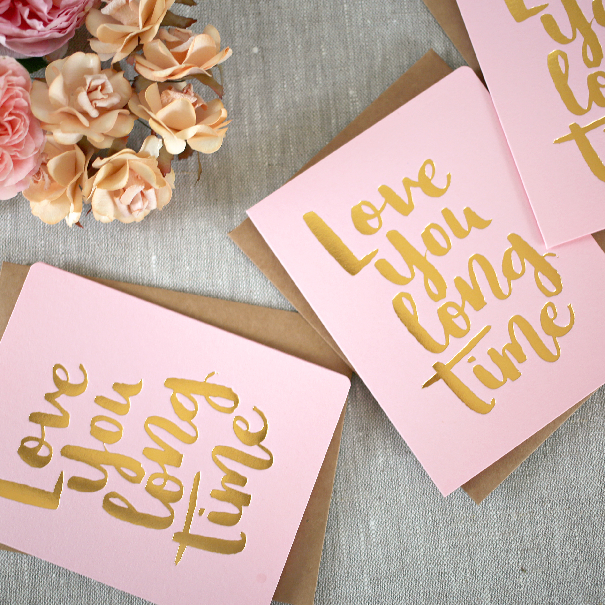 Love You Long Time.  Photo from Bespoke Letterpress