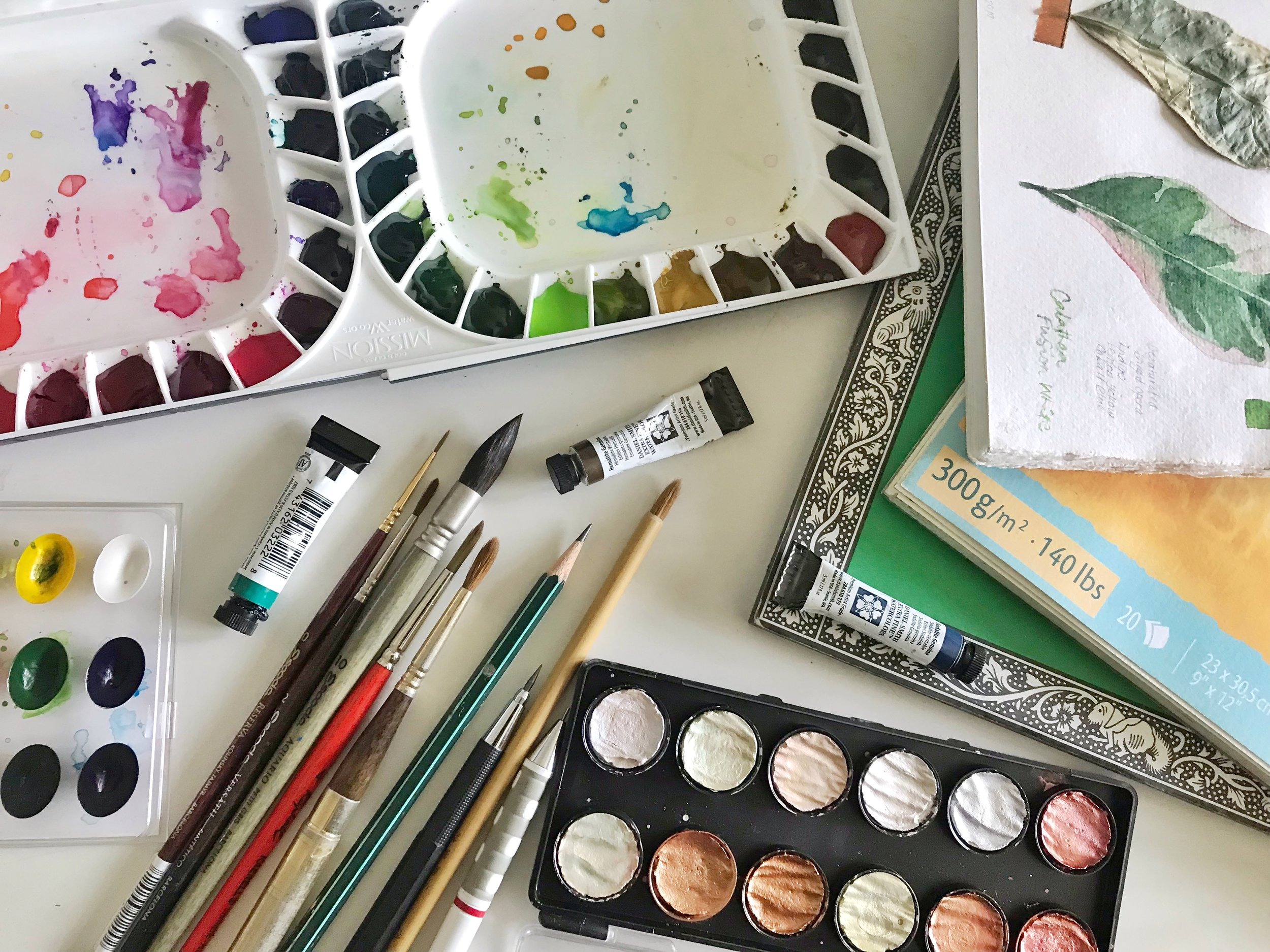 Find out which papers, paints, and brushes I use!