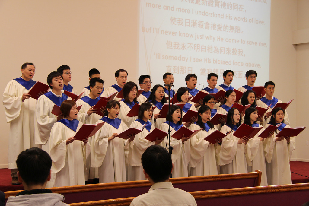 The True Jesus Church of San Jose Church Choir performs at one of three Spring 2014 Evangelical Service.
