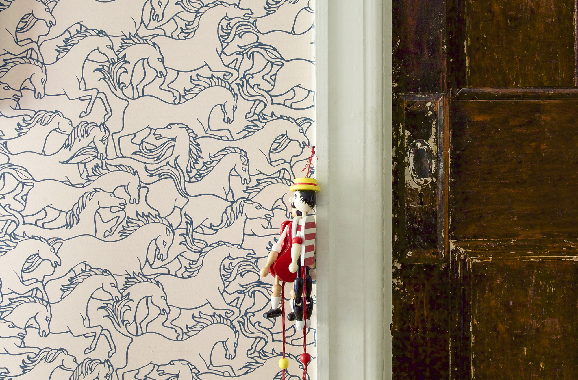 Stampeding horses by Florence Broadhurst - an enduring and dynamic design.