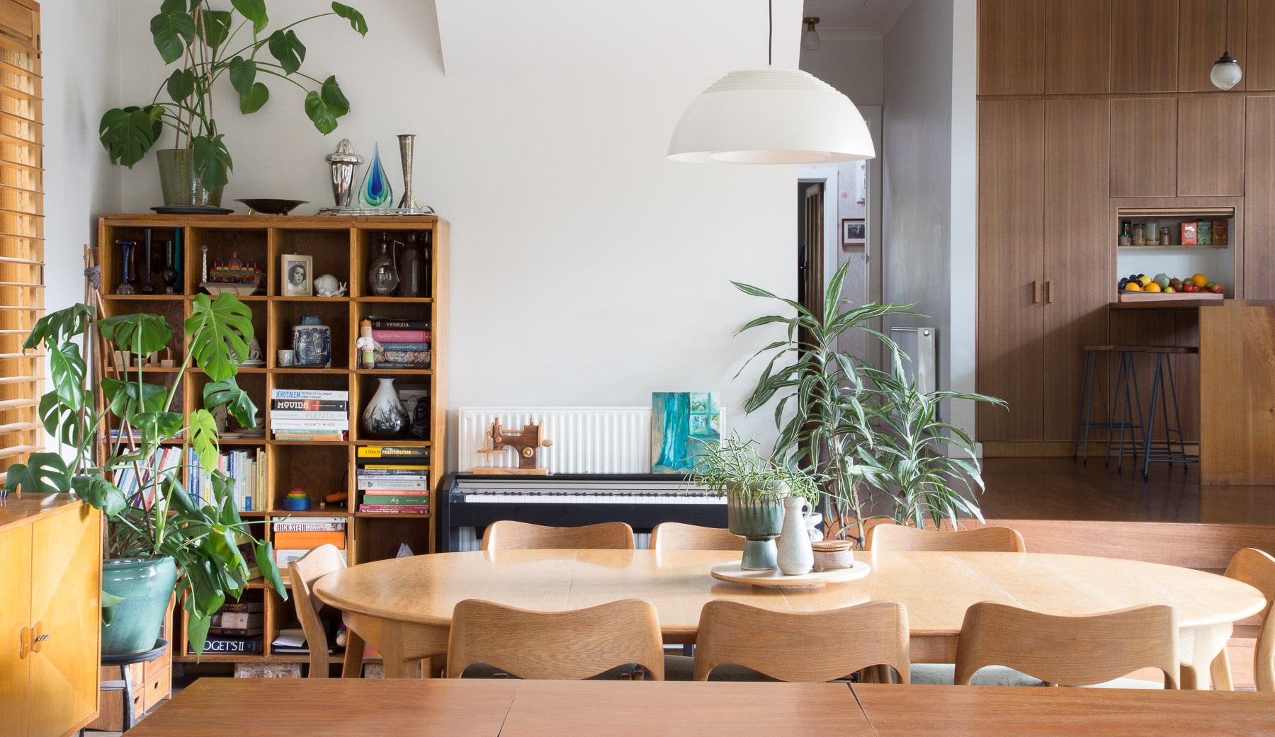 Secondhand light fitting and furnishings have been used throughout