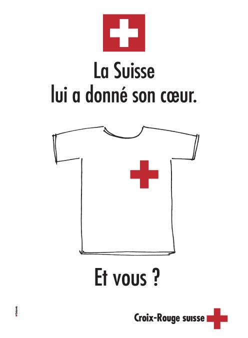 Annonce presse Croix Rouge suisse