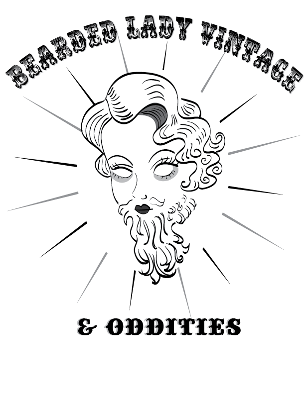 Logo Development Bearded Lady Vintage & Oddities