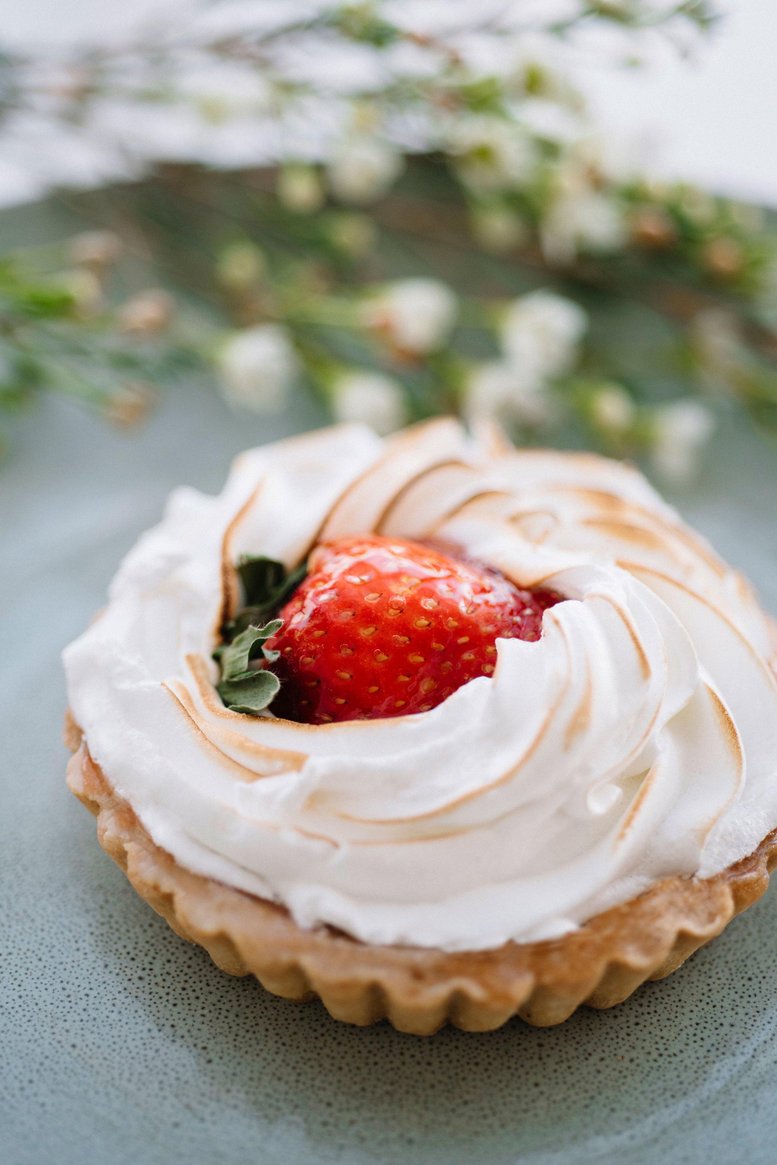 Strawberry Meringue Closeup