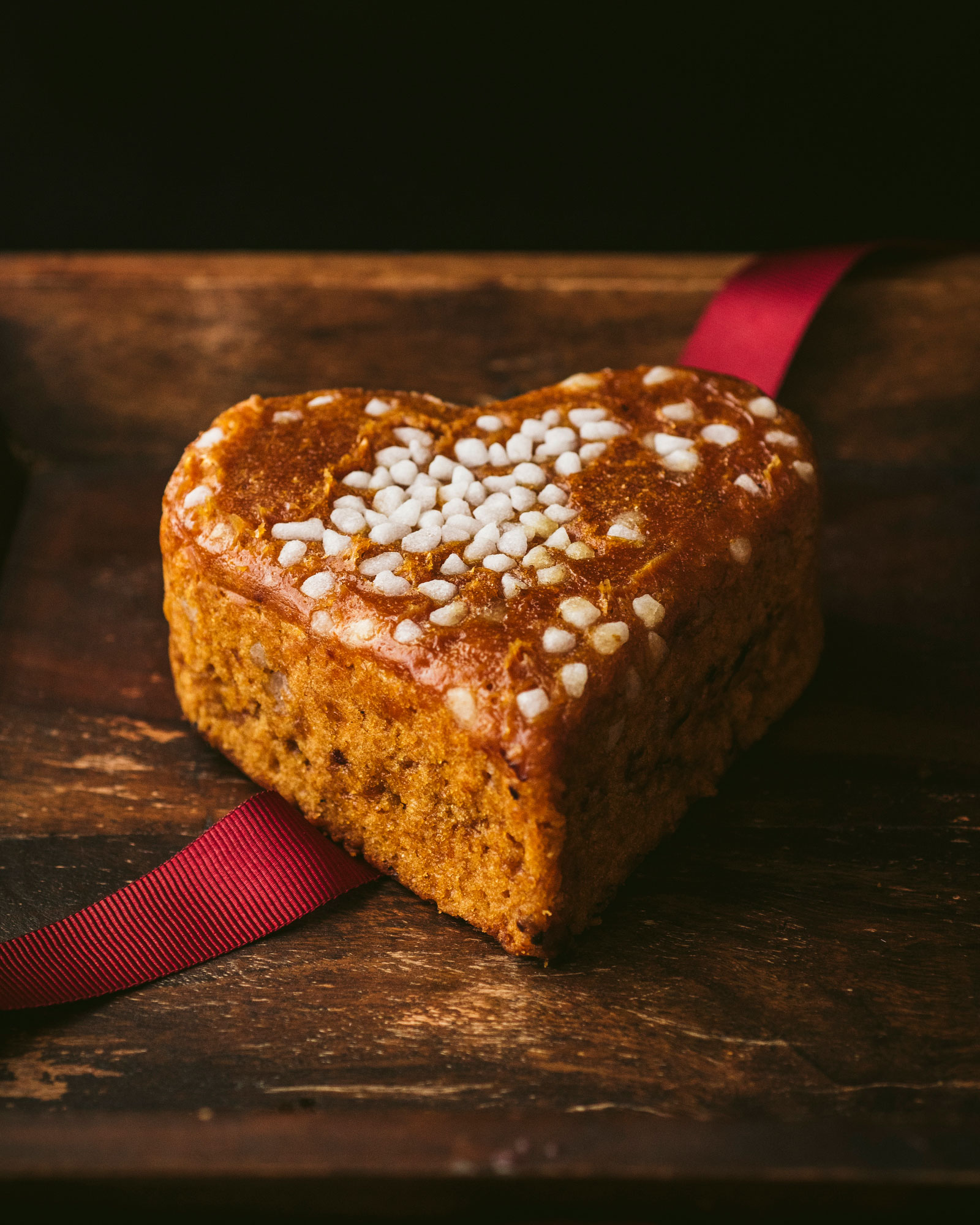Heart Shaped Belgian Honey Cake