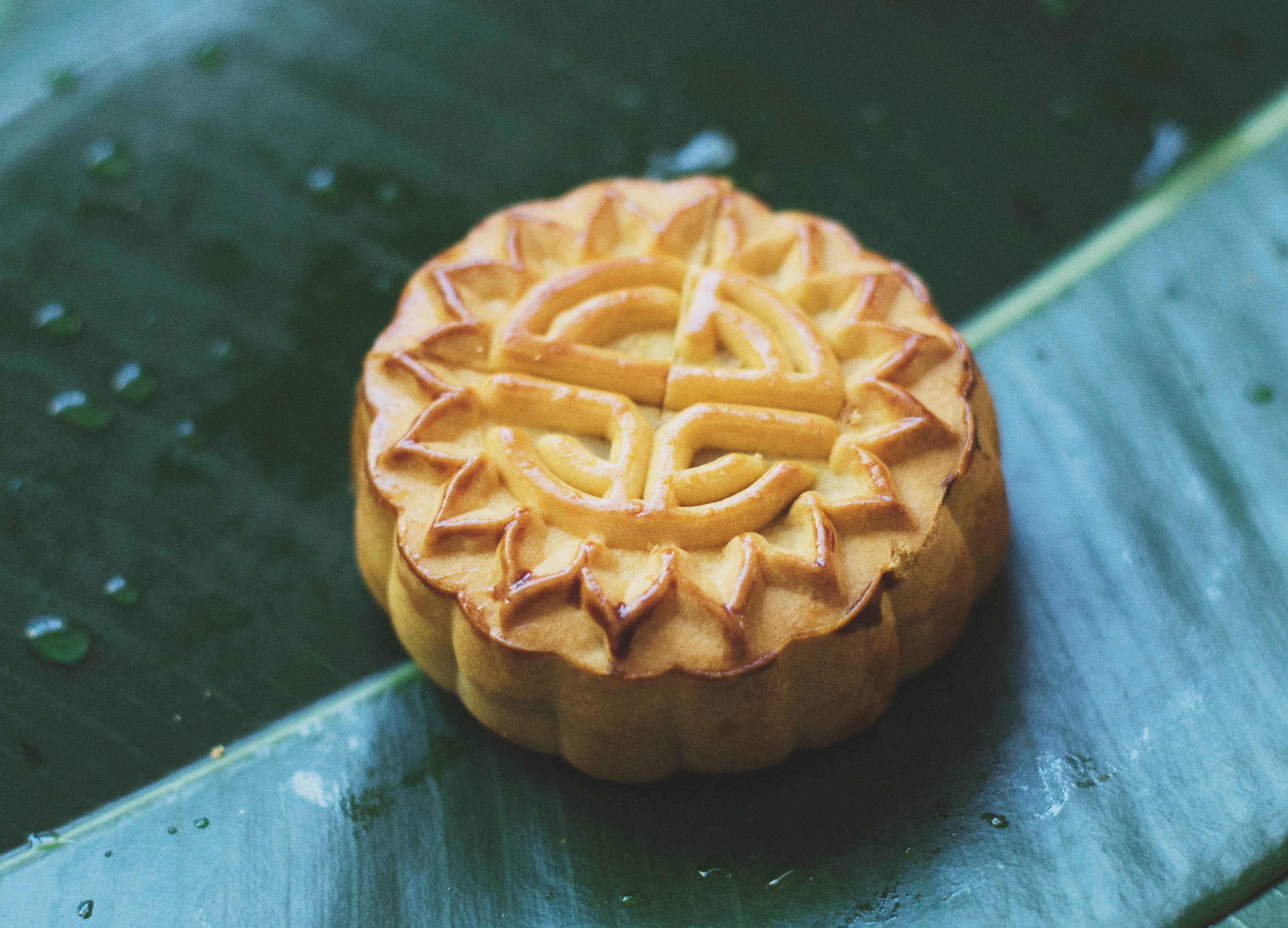 Vietnamese Moon Cake Food Photo