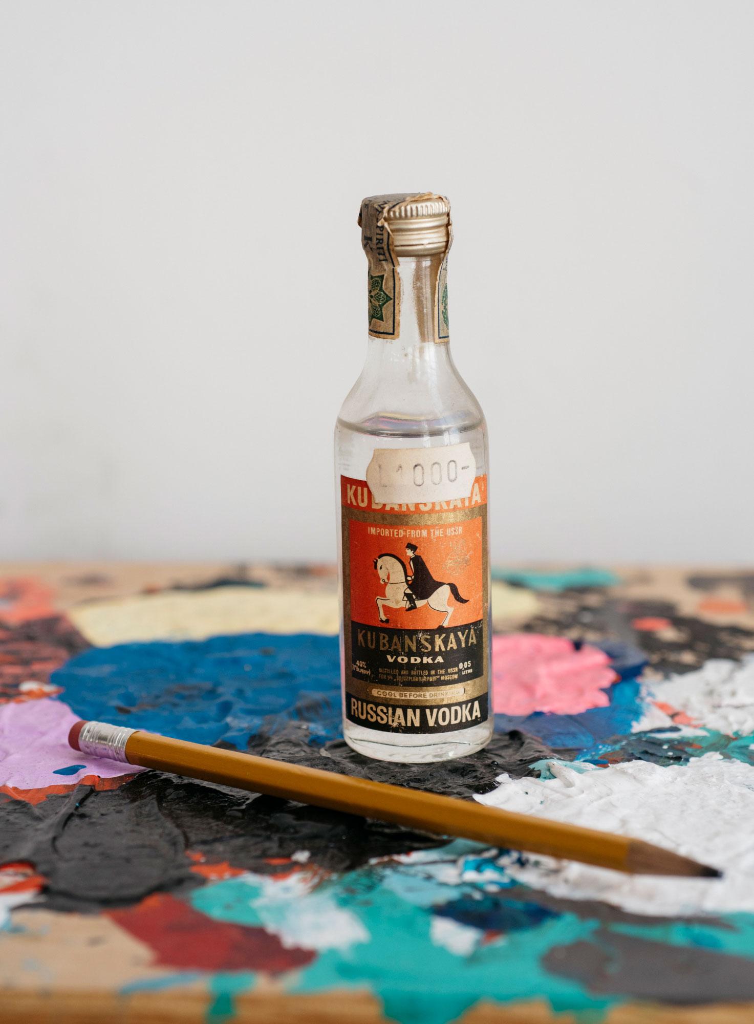 Vintage Russian Vodka Bottle