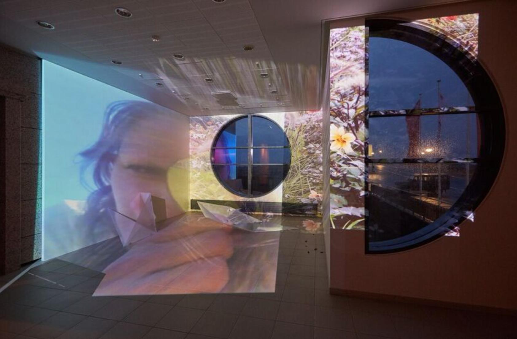 Ásdís Sif Gunnarsdóttir,I Could be your Mirror, projection, 2016. Photo by Vigfús Birgisson. Courtesy of Cycle Music and Art Festival, Kópavogur, Iceland.
