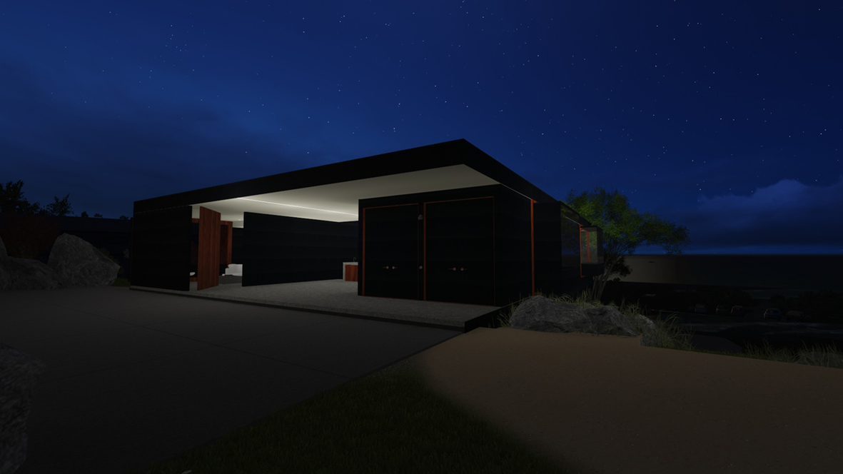 Banks House_FORMplay Architects_At Carport Access From Spa_Iconic Architecture_Orford Tasmania.jpg