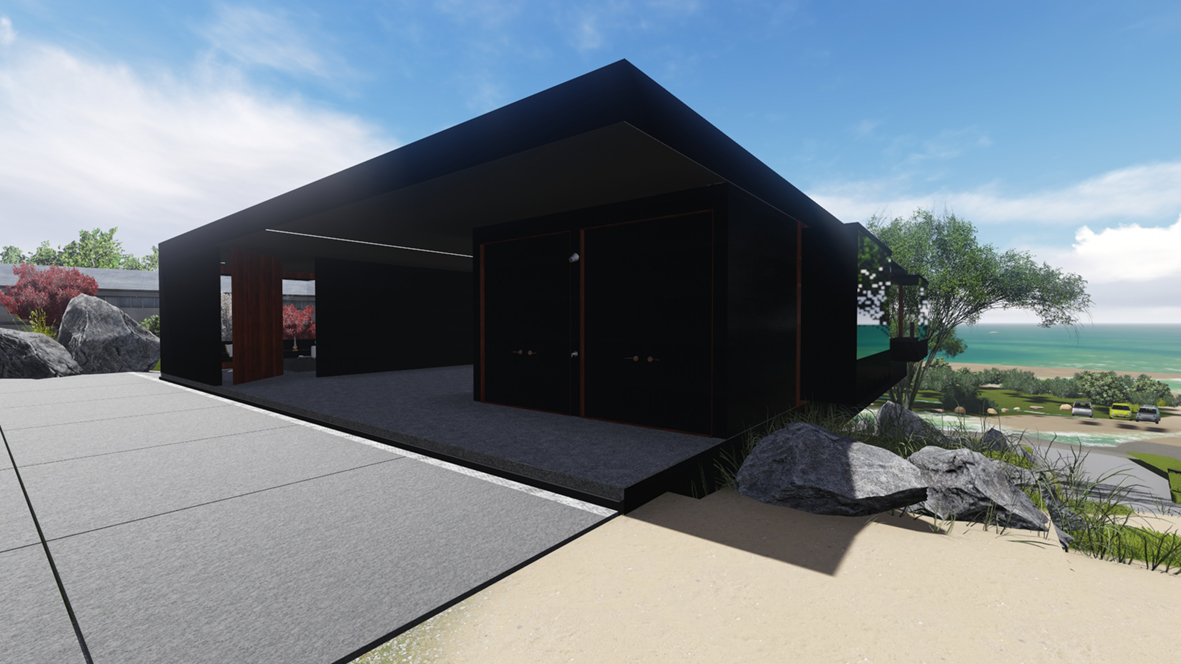 Banks House_FORMplay Architects_Under Car Port_Covered External Area_Iconic Architecture_Orford Tasmania.jpg