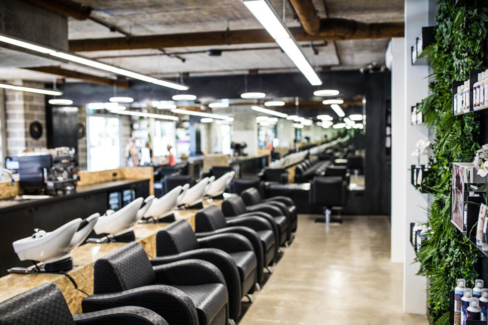 Snip Into hair and beauty salon_Sydney_FORMplay Architecture Interior Design_Exposed Services at Ceiling.jpg