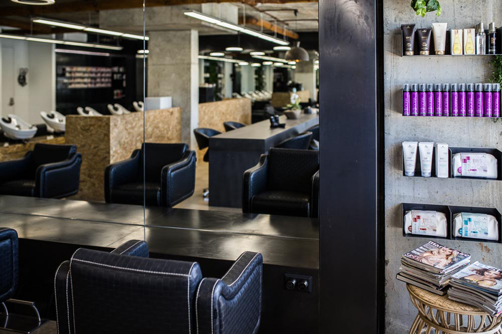 Snip Into hair and beauty salon_Sydney_FORMplay Architecture Interior Design_Workstation Booths with Hot Rolled Steel Finish.jpg
