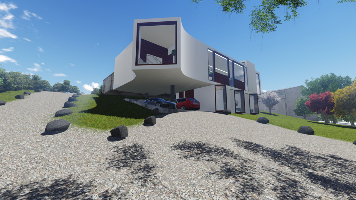 Rheban House_FORMplay Architecture_Approach Perspective_Carport cantilever.jpg
