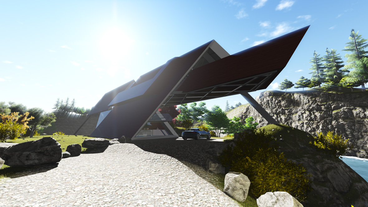 Mobius House_FORMplay Architects_Approach to Carport_Iconic Design_Deconstructivist Style.jpg