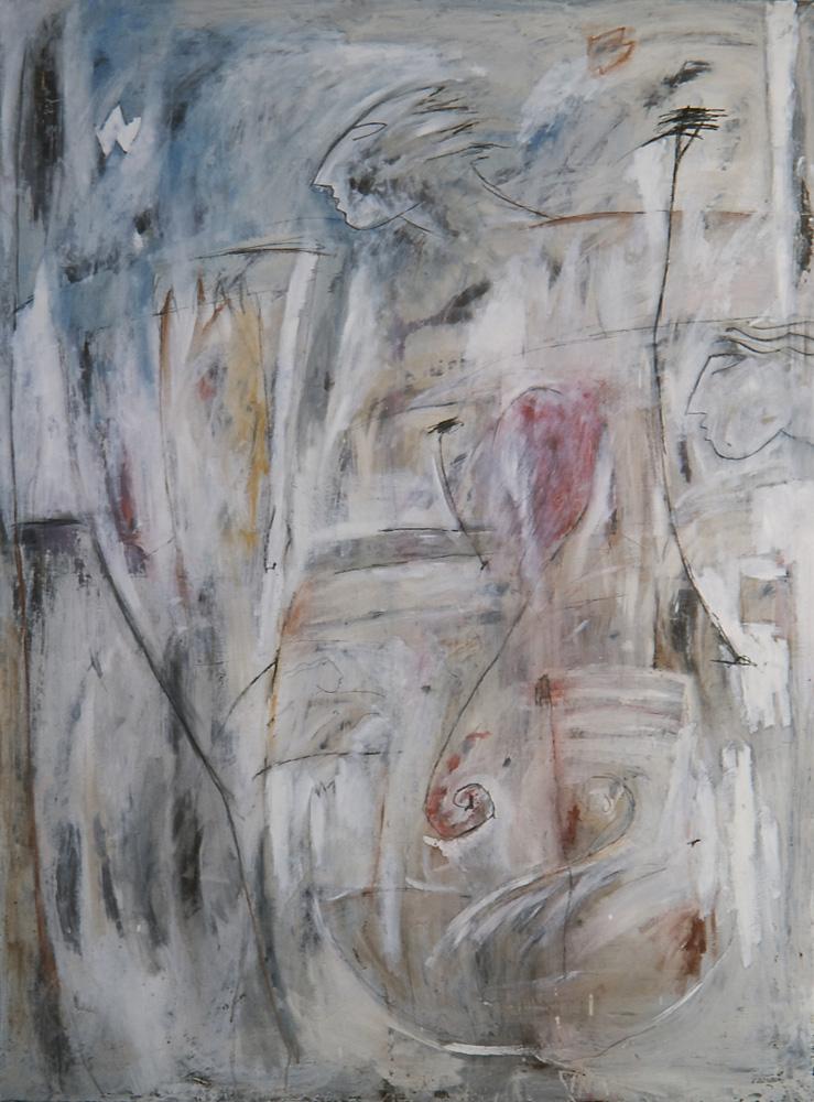 Senza titolo, 1983  Olio su tela  cm 200 x 150