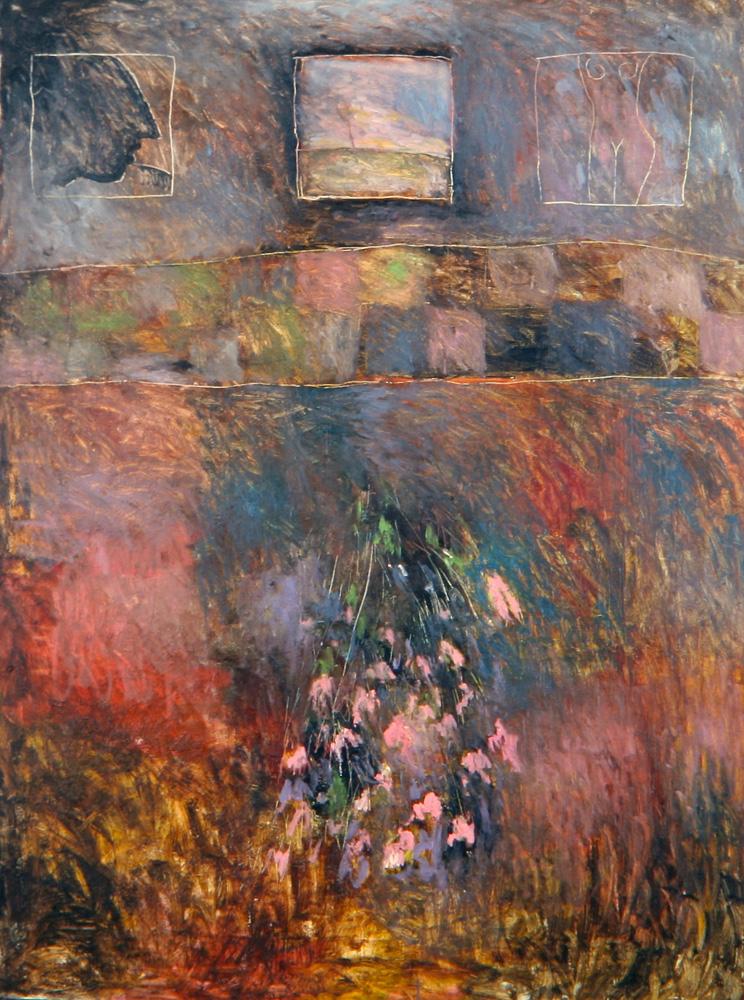 Senza titolo, 1985  Olio su tela  cm 200 x 150