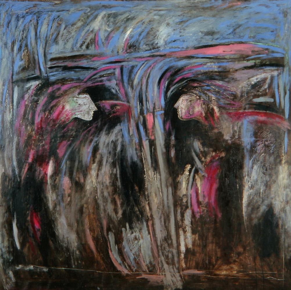 Senza titolo, 1985  Olio su tela  cm 175 x 175
