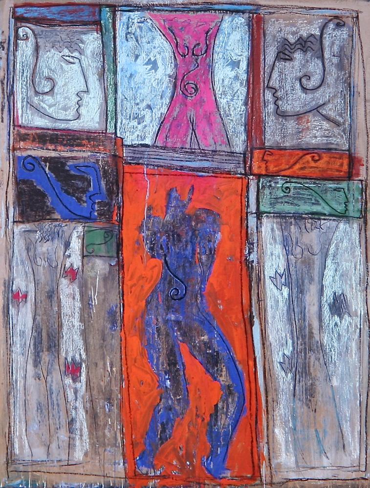 Senza titolo, 1986  Tecnica mista su tela  cm 200 x 150