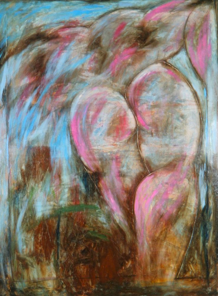 Senza titolo, 1987  Olio su tela  cm 200 x 150