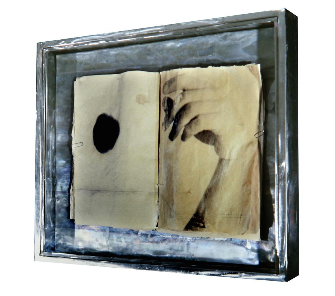 Senza titolo, 1989  Emulsione fotografica e grafite su carta, ferro, vetro