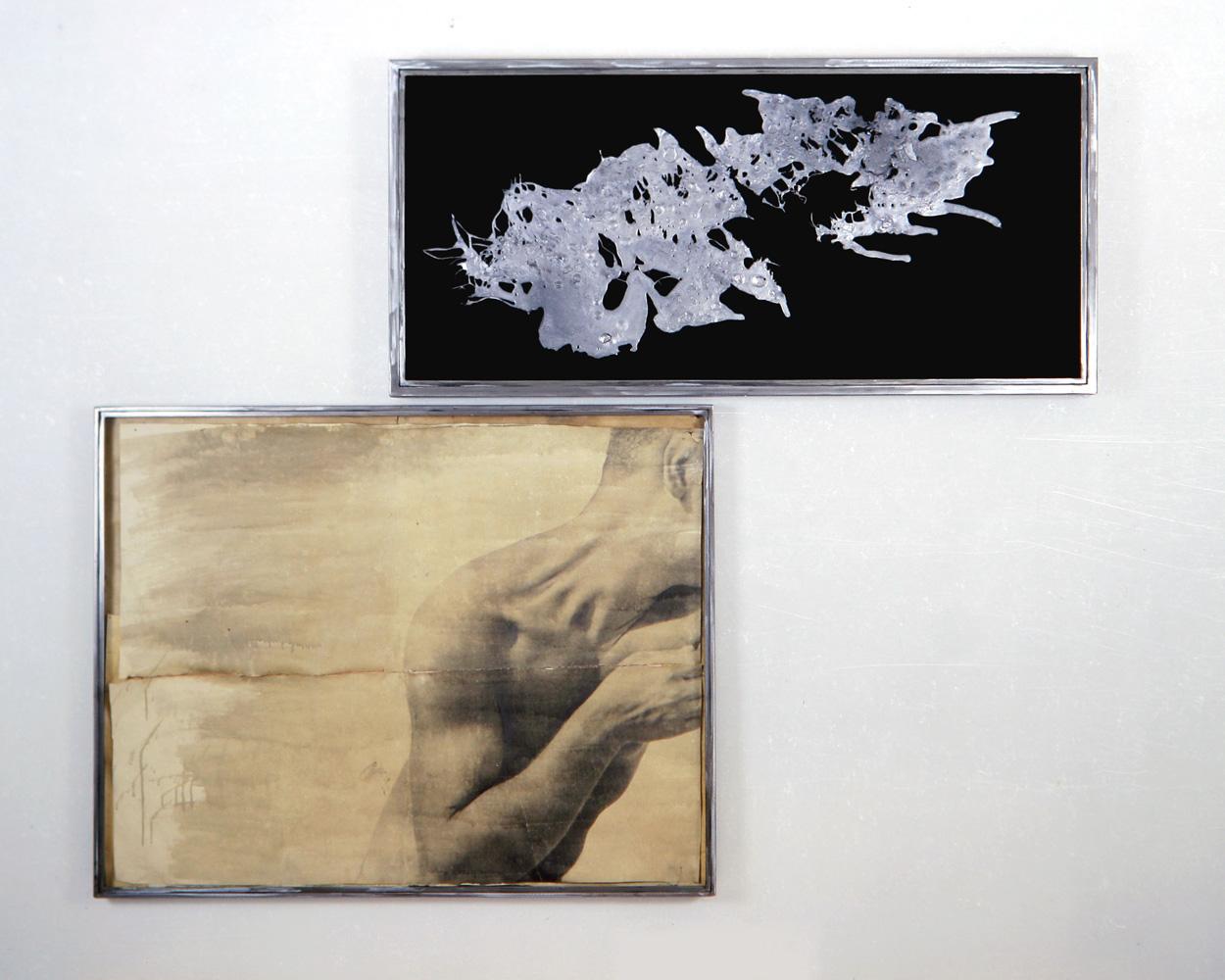 Senza titolo, 1992  Emulsione fotografica su carta, piombo, velluto, ferro, vetro  cm. 160 x 195
