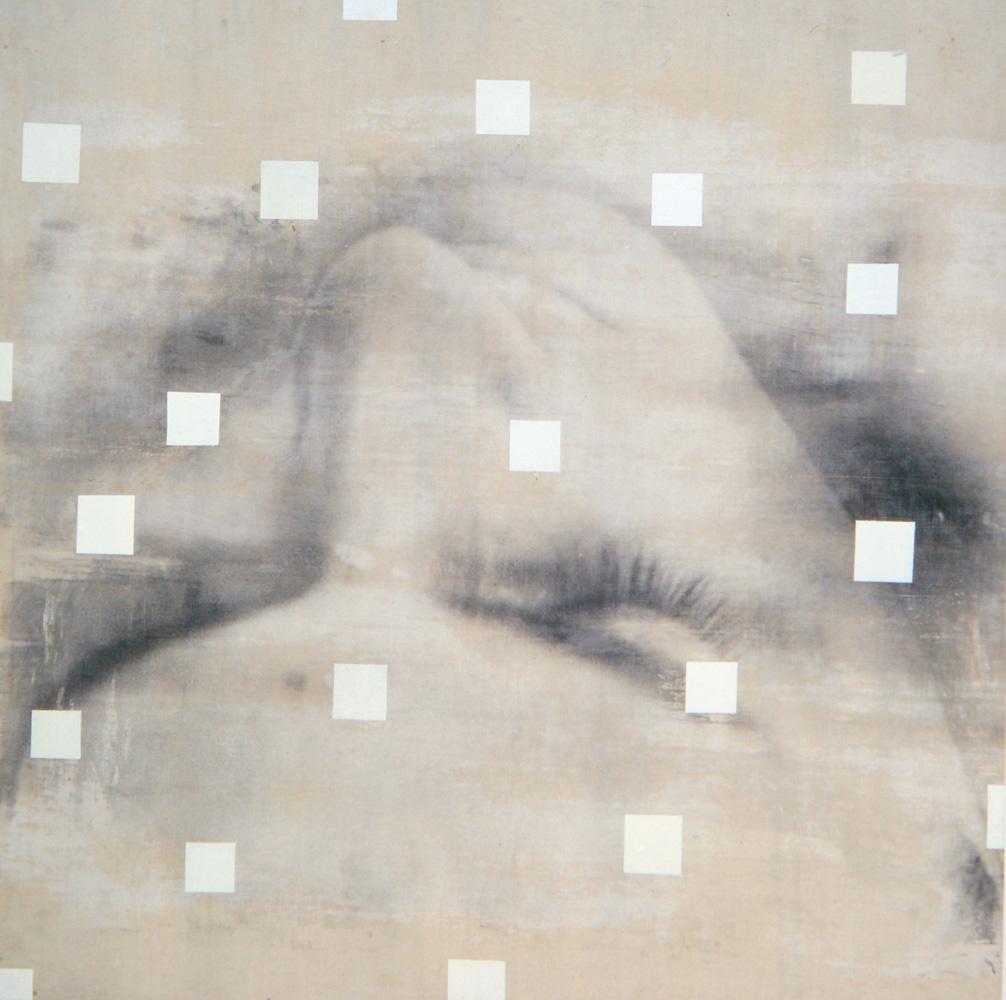 Senza titolo, 1997  Emulsione fotografica, acrilico e tela su legno  cm. 125 x 125