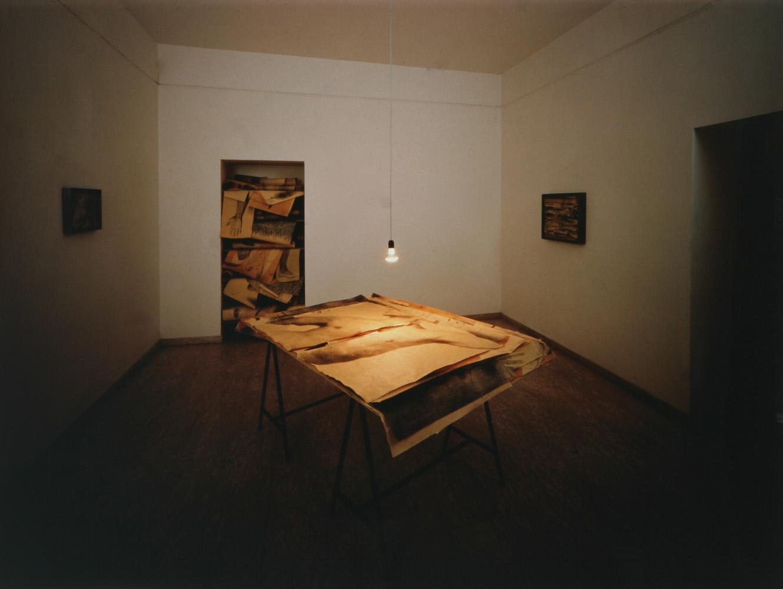 Installazione, 2002  Le stanze dell'arte  Tullio Pironti, Piazza Dante, Napoli