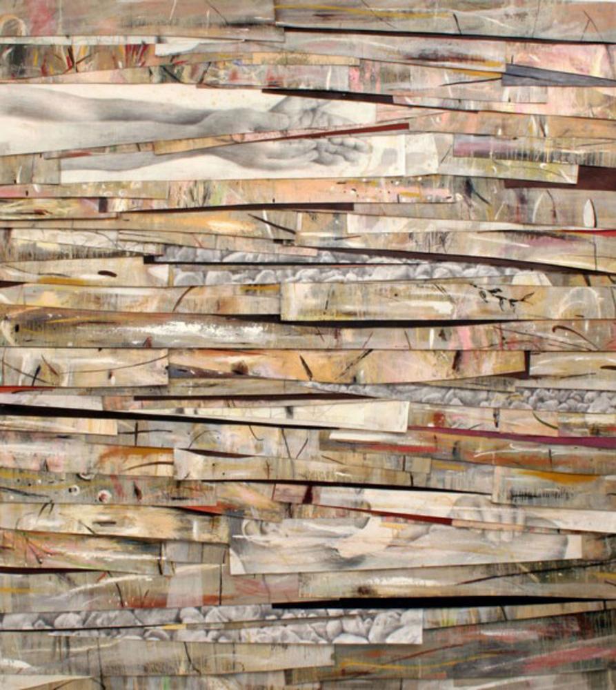 Senza titolo, 2007  Olio, grafite e cera su tela  cm 250 x 225