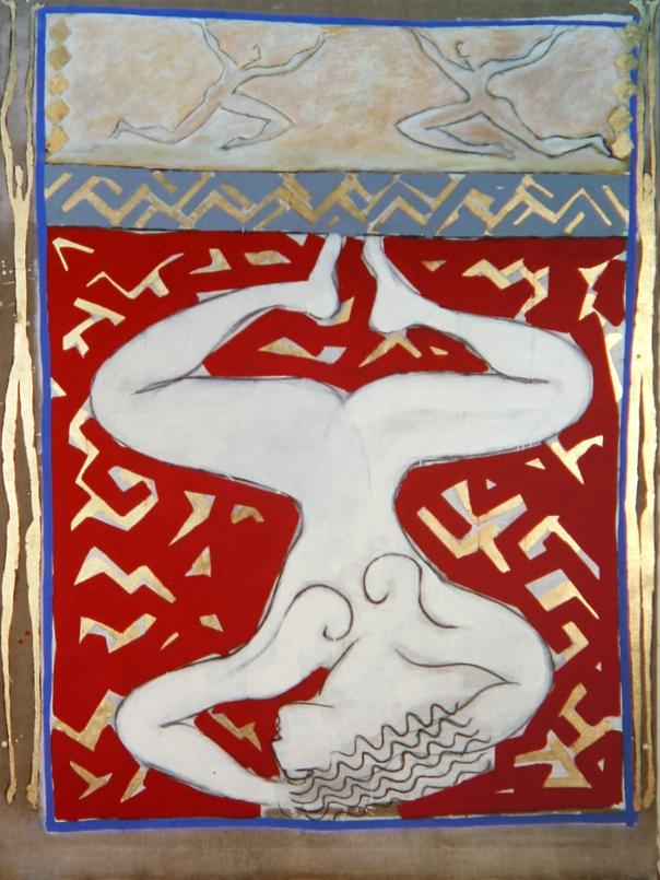 Senza titolo, 1983  Tecnica mista su tela  cm 200 x 150