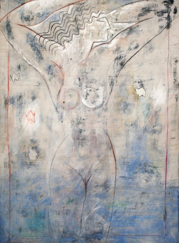 Senza titolo, 1984  Tecnica mista su tela  cm 275 x 200